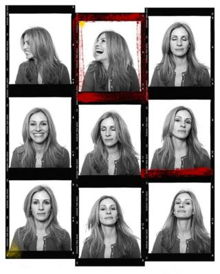 Julia Roberts portraits on a contact sheet