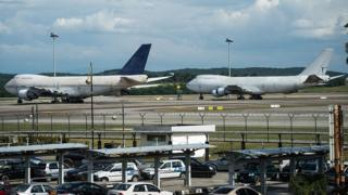 Two Boeing planes are stationed at Kuala Lumpur airport