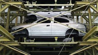 Hyundai car plant in Beijing