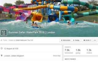 Summer Safari Waterpark Facebook page