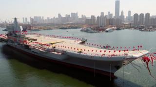 中国第一艘国产航母2017年4月在大连下水,这将是中国第二艘航空母舰。