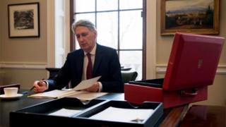 Philip Hammond preparing the Budget