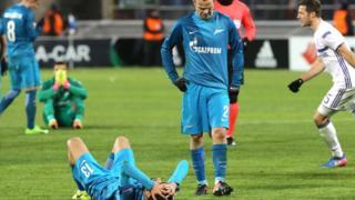 """Футболисты """"Зенита"""" ыбыли из Лиги Европы"""