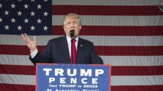 Mgombea wa urais nchini Marekani Donald Trump