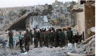 نیروهای دولتی سوریه در اطراف حلب