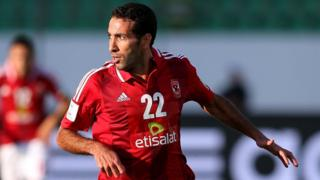 Mohamed Aboutrika of Al-Ahly SC at the FIFA Club World Cup Quarter Final match against Guangzhou Evergrande FC in Morocco, 14 December 2013