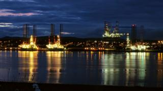 Rigs are serviced in Dundee harbour