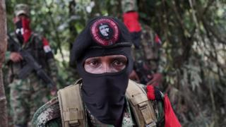 Yerson, commander of the National Liberation Army (ELN), talks to Reuters in the north-western jungles in Colombia, August 30, 2017