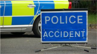 generic police accident sign