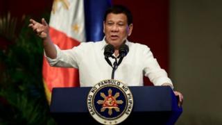 Philippine President Rodrigo Duterte. Photo: September 2017