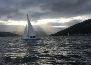 Evening race for the Loch Long yachts from Cove Sailing Club.