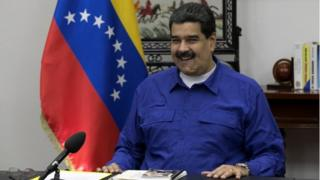 Venezuela's President Nicolas Maduro speaks during a meeting with ministers at Miraflores Palace in Caracas, Venezuela September 12, 2017.