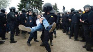 Задержание демонстранта