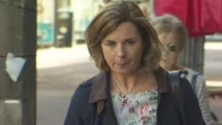 Fiona Barnes arrives in court