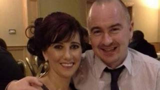 Yvonne Hegarty with partner Adrian McAleese