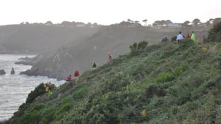 Cliff rescue workers on Guernsey's coast