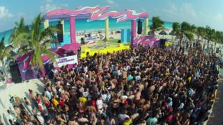 Spring break in Cancun in 2014