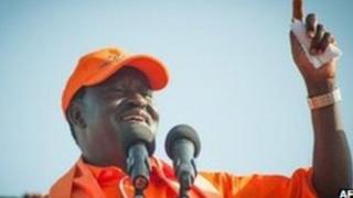 Kinara wa chama cha upinzani cha ODM nchini Kenya Raila Odinga
