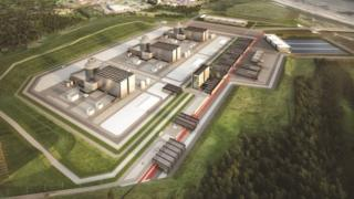 Artist's impression of the planned Moorside nuclear plant