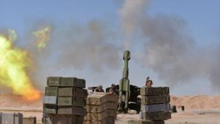 أسلحة المدفعية الثقيلة استخدمت في معارك استعادة الحضر من سيطرة تنظيم الدولة الإسلامية