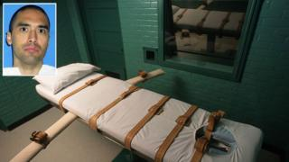 Rolando Ruiz (L) and a lethal injection chamber in Texas.