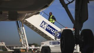 Menzies Aviation staff at airport