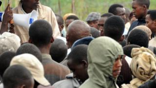 Impunzi z'Abanyekongo mu nkambi ya Nkamira mu 2012
