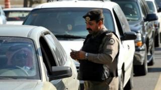 رجل شرطة سعودي