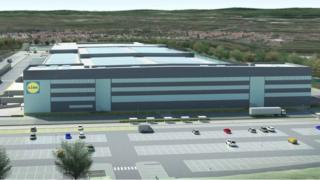 CGI of new planned distribution centre in North Lanarkshire