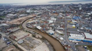 Aerial view of Hull