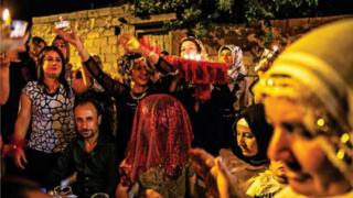 A traditional wedding ceremony in Hasankeyf