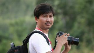 Reuters journalist Wa Lone, who was arrested in Myanmar, is seen in this 1 June 2015 photo.