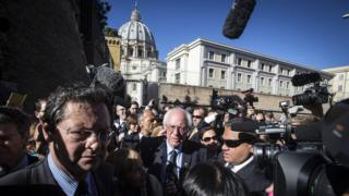 Mr Sanders has said he and Pope Francis share the same views on inequality
