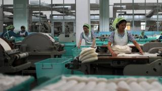 Текстильное производство в КНДР