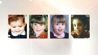Photographs of four of the five children whose deaths at the subject of the inquiry