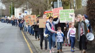 Protest march Sandbach