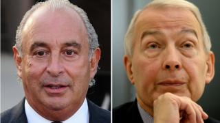 Sir Philip Green (left) and Frank Field MP