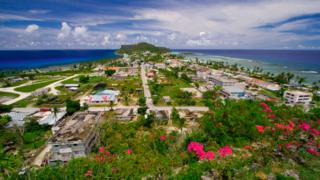 A view of village of Songsong in the Northern Mariana Islands