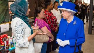 The Queen meets local people