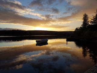Lairg pier at sunset