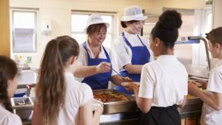 Serving school meals
