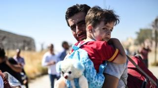 ffoaduriaid yn Syria