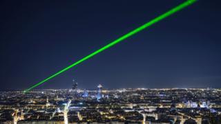 Lasers in Lyon, France