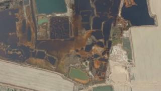 ภาพถ่ายทางอากาศที่แสดงให้เห็นมลภาวะกระจายเป็นวงกว้างจากแหล่งโรงงานอุตสาหกรรมทางตอนเหนือของจีน