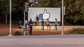 Facebook sign outside HQ