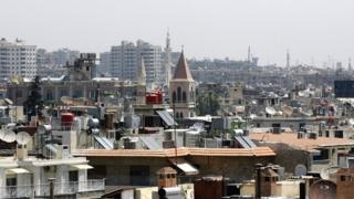Rooftops in the Syrian capital Damascus, 26 June 2013