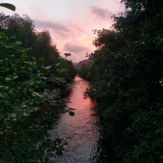River Croe at sunset