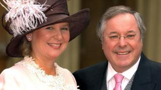 Richard Whiteley with his partner Kathryn Apanowicz