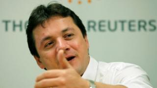 Wesley Batista, chief executive of JBS, the world's largest beef producer, gestures as he speaks during Reuters Latin American Investment Summit in Sao Paulo, Brazil on March 25, 2011.