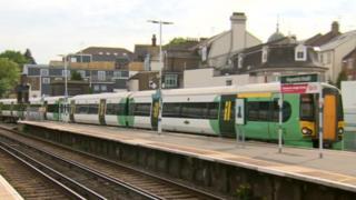 Southern train at Haywards Heath